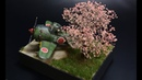 Ki 84 EggPlane tiger model Diorama Cherry Tree