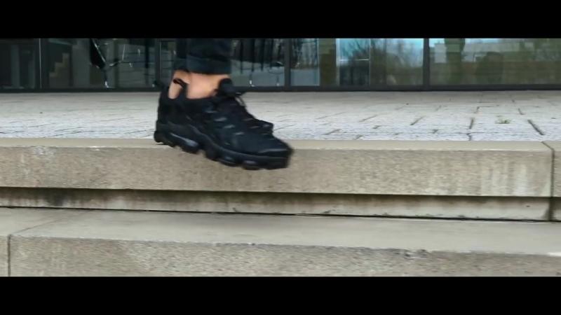 NIKE VaporMax Plus Triple Black On Feet Video