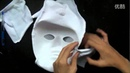 Creepypasta Cosplay-Slender Man mask Tutorial by DeluCat