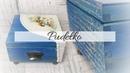 171 DECOUPAGE BOX EMBOSSING POWDER DIY PUDEŁKO DECOUPAGE TUTORIAL