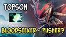 The most unexpected hero to push - Topson Bloodseeker 20 Min GG! Dota 2 Ranked Gameplay