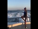 Яна Рудковская и её тело (Италия, яхта, август 2018)