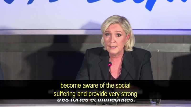 Marine Le Pen calls on Macron to act, not just increase security - YouTube