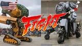 USA Vs Japan Giant Robot Duel - MegaBots VS Kuratas Fight Amazing Mega Battlebots
