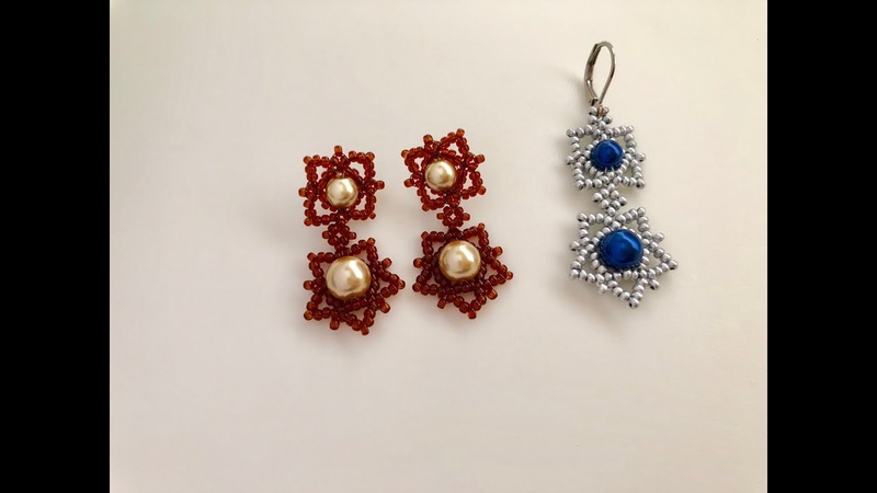 How to make beaded earrings. Classic Pattern. Super easy Tutorial 💞