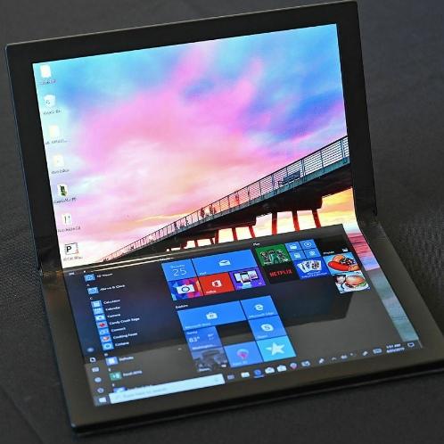 «Огромная светящаяся книга»: Lenovo представила прототип первого в мире компьютера с гибким экраном