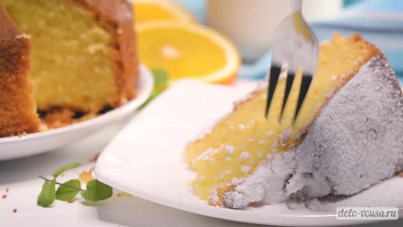 Апельсиновый пирог. Очень вкусный, нежный и ароматный!