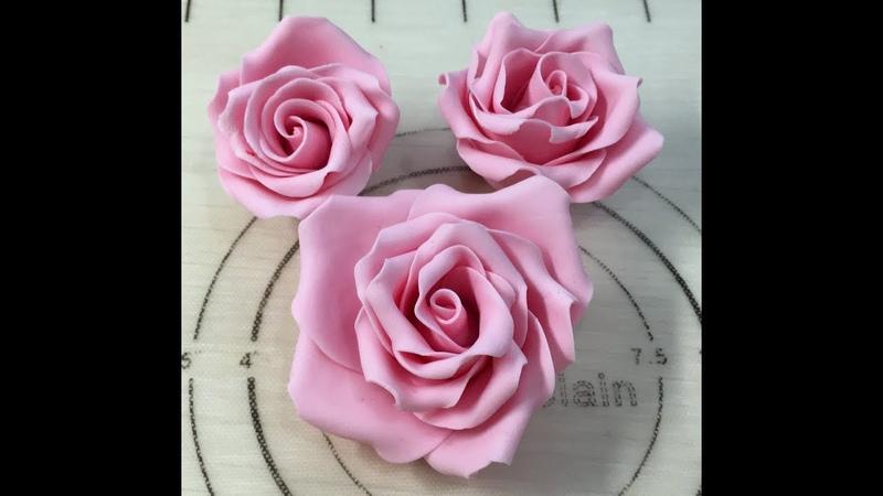 Роза из мастики (Самый быстрый способ сделать розу)( Easy and fast fondant rose!)