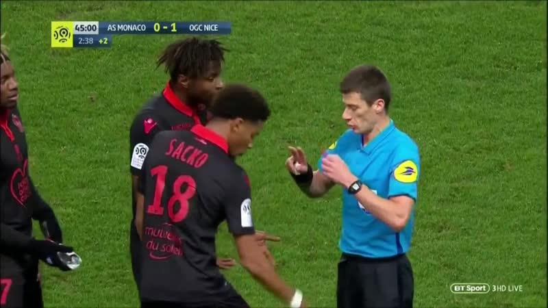 Франция Лига 1 Монако - Ницца 1:1 обзор 16.01.2019 HD