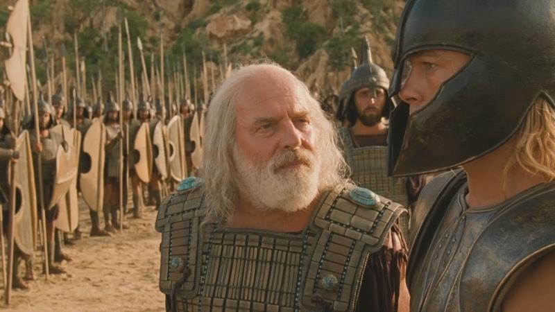 Троя Ахиллес против большого лысого из Фессалии
