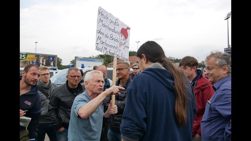 Chemnitz Demo zum Besuch von Ministerpräsident Kretschmer
