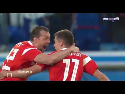 Россия - Египет 3:1 Обзор и голы матча ==
