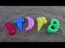 Лепим цветные куличики из песка изучаем цвета на английском для детей рогалик