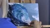 Как нарисовать волну. Мастихин