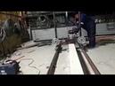 Самодельная ленточная пилорама с бензиновым двигателем 7л.с.