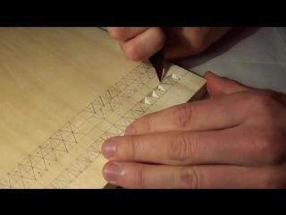 Геометрическая резьба по дереву. Вырезание треугольника