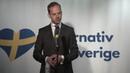 Gustav Kasselstrands tal på partilanseringen för Alternativ för Sverige den 5 mars 2018