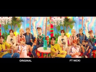 No one asked but here's a side by side comparison of that part IDOLMVftNICKI