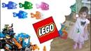 Kids Fishing. LEGO BOOST Challenge. ЧЕЛЛЕНДЖ рыбалка СТРЕЛЯЮЩИЙ Лего-РОБОТ Бульдозер против рыбок!