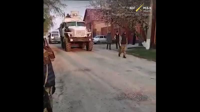 Обыск с бронетехникой у ингушских активистов