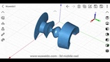 Revolve feature Wuweido 3d mobile cad