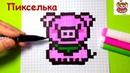 Как Рисовать Свинью по Клеточкам ♥ Рисунки по Клеточкам