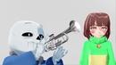 MMD Oat Thailand Trumpet MEME Sans x Chara