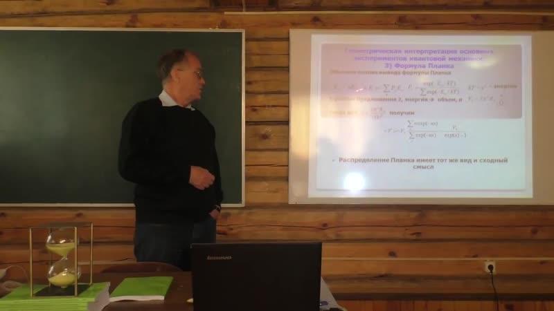 Сергей Сипаров. 3 Геометрическая интерпретация базовых опытов квантовой механики