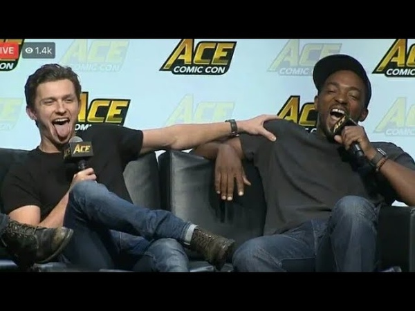 TOM HOLLAND ROASTED ANTHONY MACKIE ON ACE COMIC CON