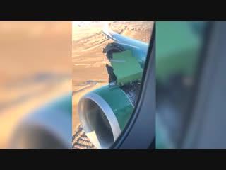 Видео: Пассажирский самолет начал разрушаться во время взлета в Лас-Вегасе