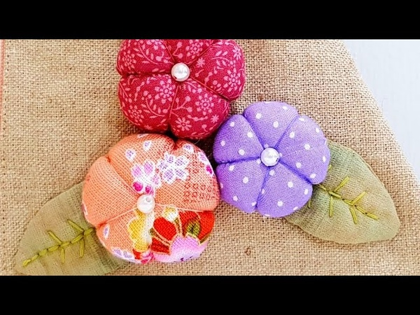 How to make cute plum blossoms with hand sewing 超级无敌可爱梅花制作 HandyMum ❤❤