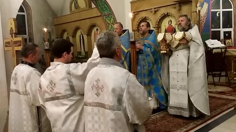 Великий вход. Божественная литургия. Крещение Господне. 19.01.2017.