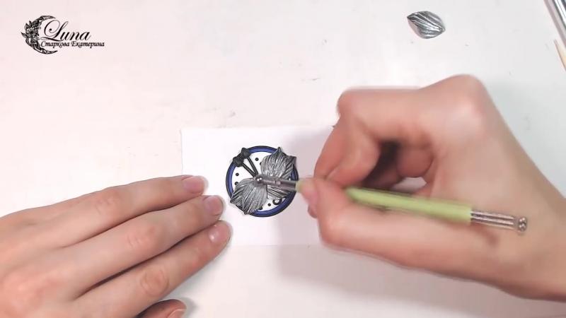 Кулон с фиолетовой орхидеей из полимерной глины Polymer clay orchid tutorial