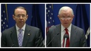 Jeff Sessions and Rod Rosenstein URGENT Press Briefing