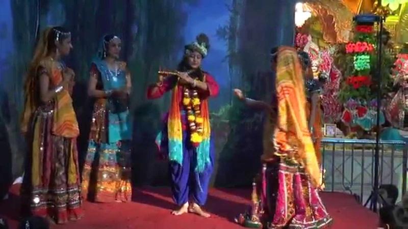 Anand Vrindavan Dham...Janmashtami Gopi Krishna Act