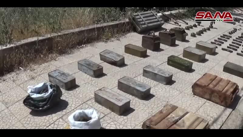 В сирийской провинции Даръа сирийские военные обнаружили несколько схронов с оружием и боеприпасами оставшимися от боевиков де