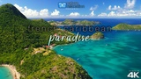 4K UHD Drone Video + Chill Music &amp Ocean Sounds Caribbean Island Paradise Aerial Nature Relaxation!