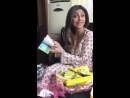 Shilpa Shetty with cool new packs of Milky bar