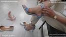 Sexy Denim Sandals Shoe Trying | Punjabi Goddess