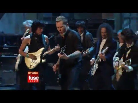 JEFF BECK, JIMMY PAGE, RON WOOD, JOE PERRY METALLICA - Train Kept A Rollin'