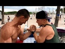 $100 IF YOU WIN! ARMWRESTLING PRANK