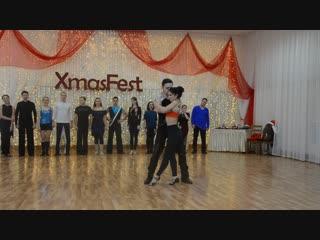 ХАСТЛ, Discofox, XmasFest 2018, ДнД Beginner, финал