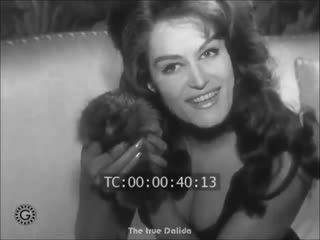 Dalida avec un herisson (Далида с ежиком)