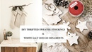 DIY Thrifted Sweater Christmas Stockings White Salt Dough Ornaments