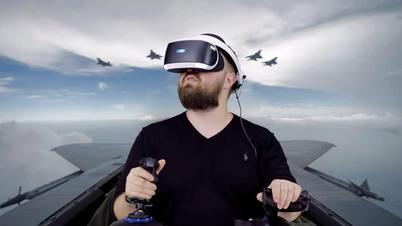Wylsacom Летаю в PS VR перегрузка 5G укачало в слюни