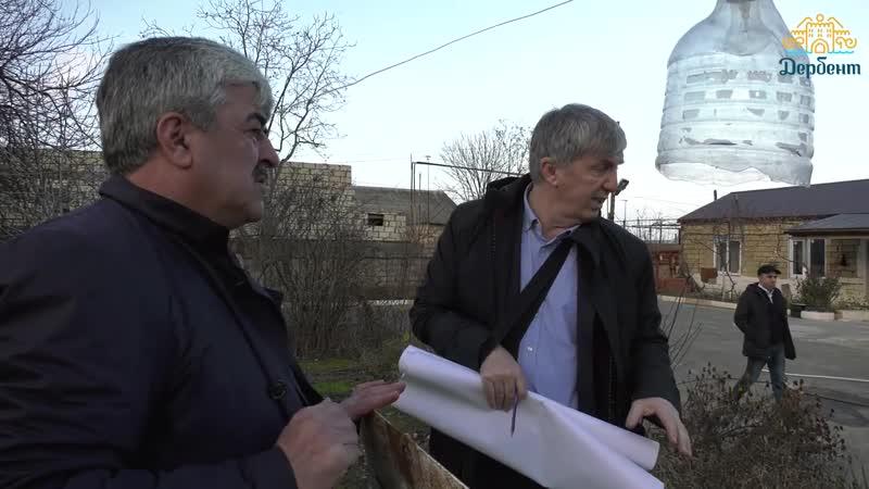 Хизри Абакаров проинспектировал объекты канализации и водоснабжения города