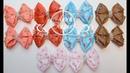 🎀БАНТИКИ В ГОРОШЕК ИЗ РЕПСОВЫХ ЛЕНТ🎀МК АННА КОХАН🎀 Classic ribbon bows Kanzashi 🎀Ribbon bows 2.5 cm🎀