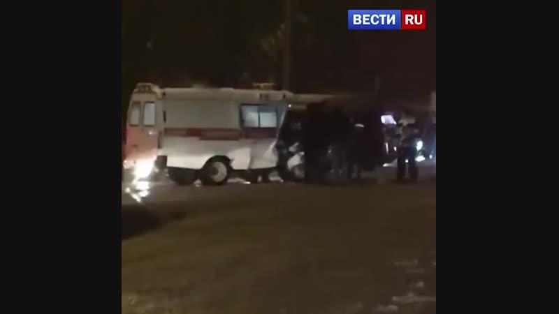 Пьяный воронежец протаранил машину скорой помощи на встречной полосе
