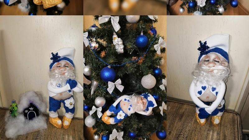 Дед Мороз из колгот своими руками. Мастер класс.