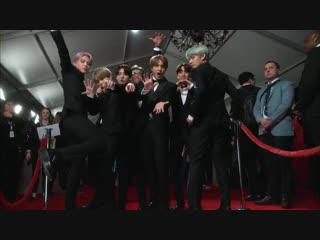 BTS put the GLAM in glambot on the GRAMMYs red carpet. tearitupbts